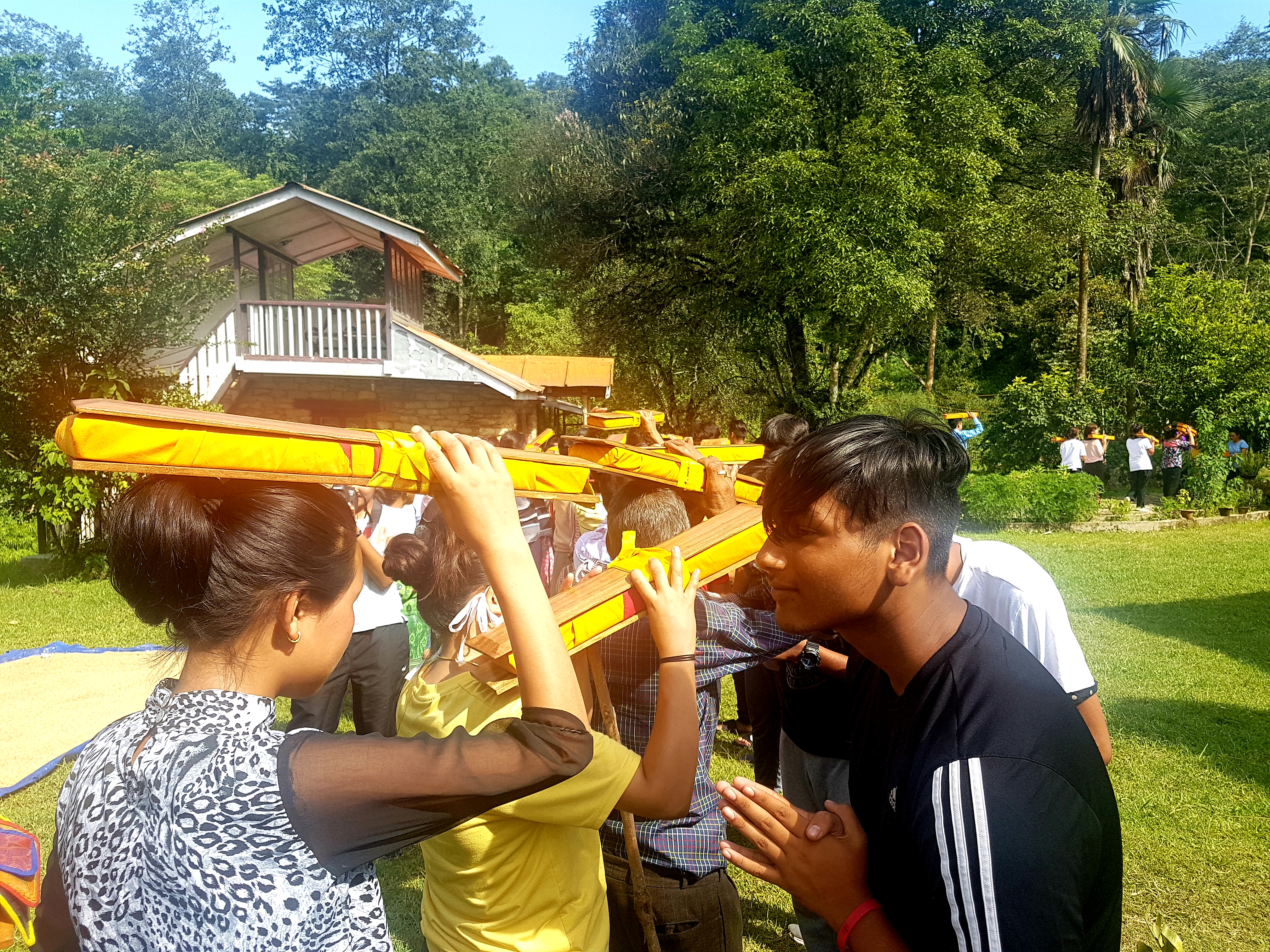 Students on School Trip experience the The Saga Dawa Celebrations in Eastern Himalayas