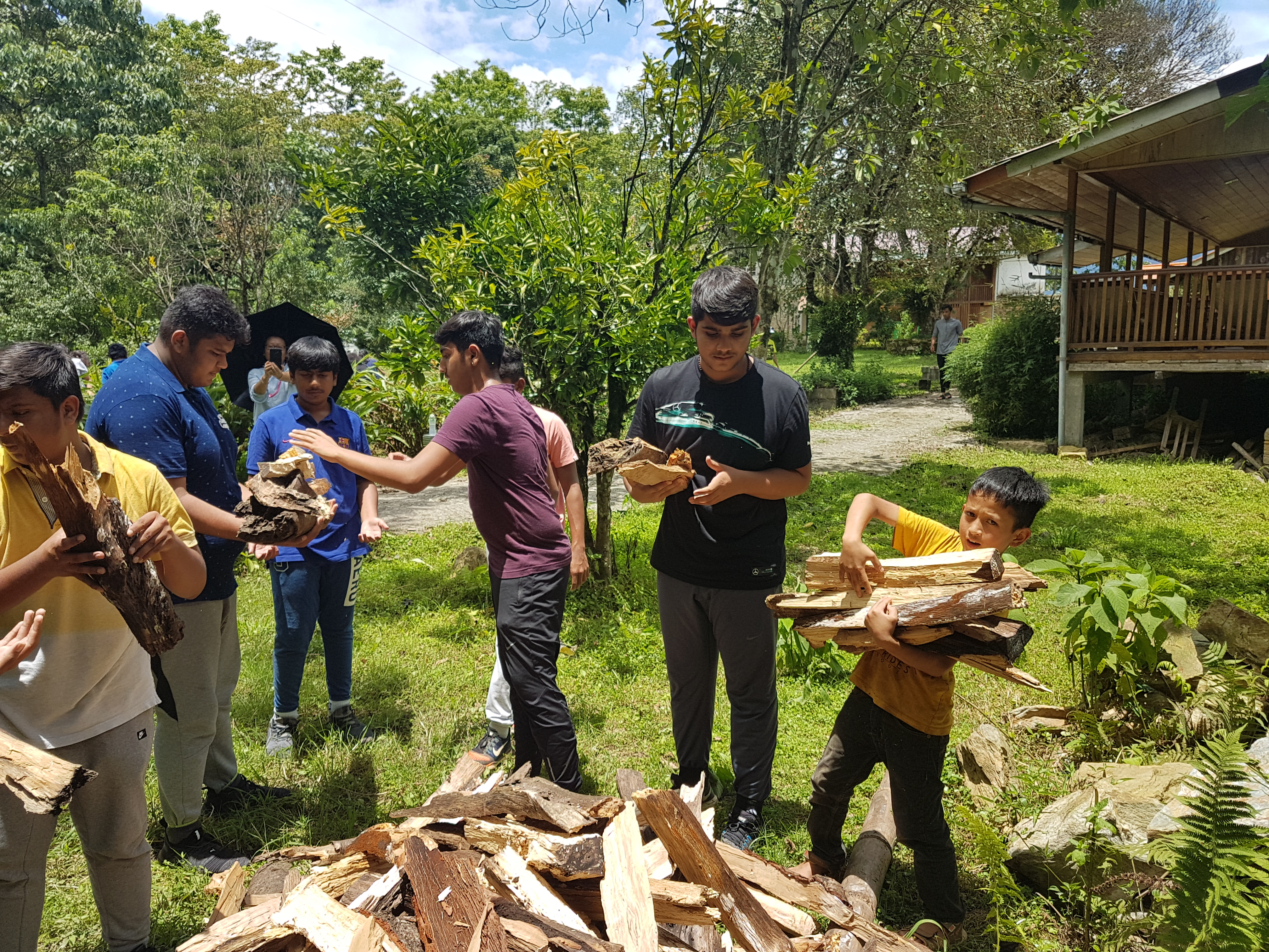 Students on a School trip lend a helping hand to farmers in Sikkim
